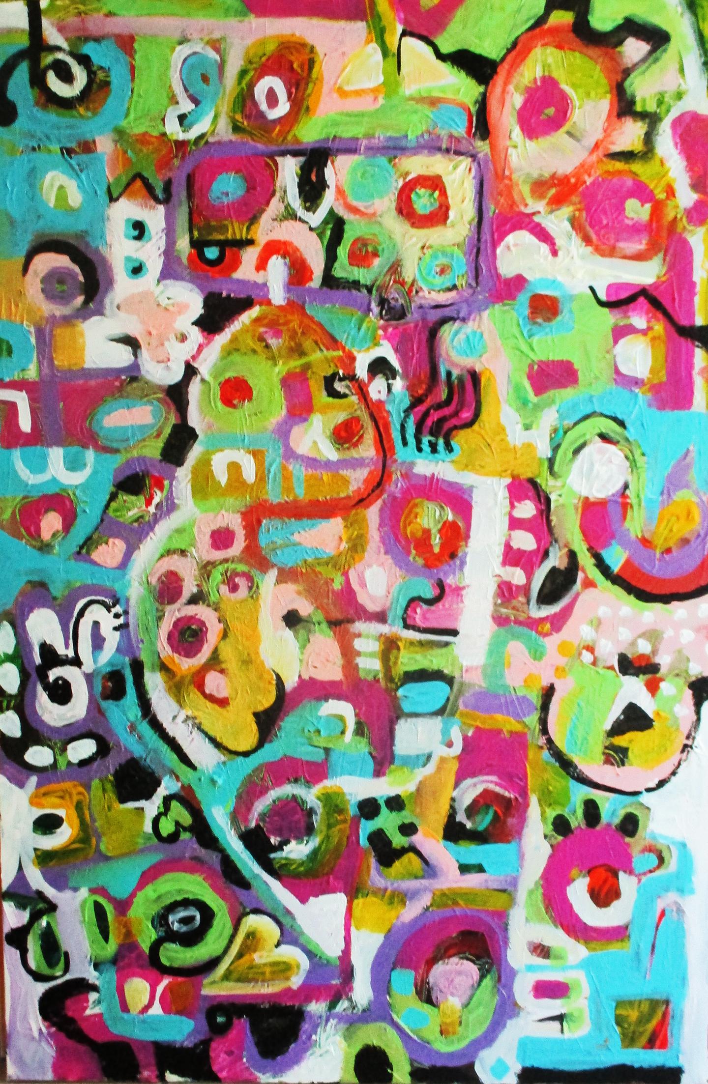 """""""Hanky Pinky""""  2017,  Acrylic, 20""""x30"""""""